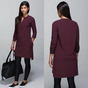 Lululemon Effortless Dress Bordeaux Drama